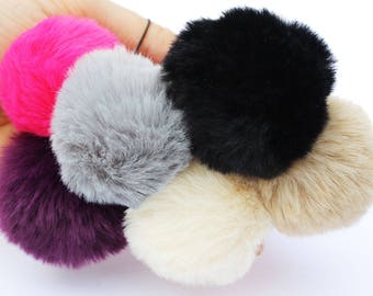 Pom Pom Brooch, soft and fluffy charm for your outfit or accessory, match with pompom necklace or pom pom phone/bag/key charm. great quality