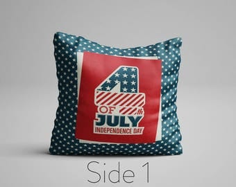 Independence Day 4th of July Cushion Memorial Day Decor Patriotic Vintage American Flag Pillow Stars and Stripes Cushion USA flag Cushion