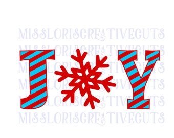 Joy stripped snowflake  SVG Cut file Christmas cut file  wood sign decalscrapbook vinyl decal wood sign t shirt cricut cameo