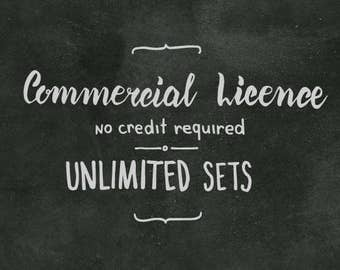 Limited Commercial License. No Credit Required. Unlimited present and future sets.