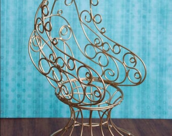 Metal chair for Monster High and Ever After High doll and other HAND MADE