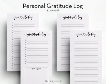 Gratitude Planner, Personal Planner, Gratitude Log, Gratitude Journal, Personal Gratitude, Resolutions, Personal Tracker, Personal Insert