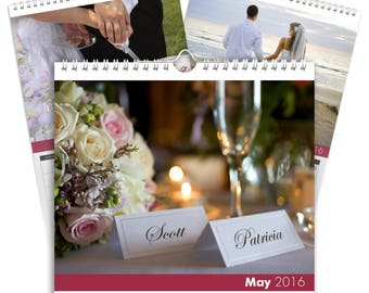 Personalised Wedding Calendar - Desktop Calendar