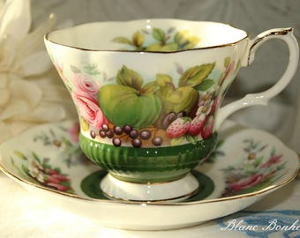 Royal Albert, England: Country Fayre Series Somerset tea cup and saucer
