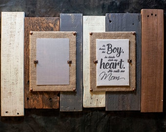 Picture frame with Quote,Pallet Sign, Expecting mom picture frame gift, Reclaimed wood picture frame, Baby Shower Gift Boy,Baby Boy Gift