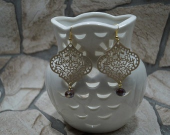 "Earrings ""Bohemianstyle with cut glass"""