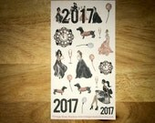 New Year 2017 Rose Gold Decorative Planner Stickers for all Planners. Erin Condren, Kate Spade, Kiki K, FiloFax. Flowers and clouds