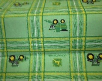 fabrics 100% cotton John deere green background cotton fabric, caroter john deere sold in half yard