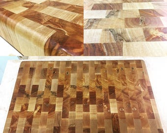 Handmade end grain cutting board chopping block