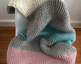 Knitted blanket Plaid