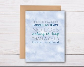 loss of child - sympathy card, grief card, bereavement card