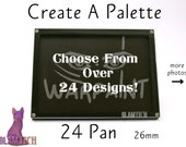 24 Eyeshadow Pan Create Your Own Magnetic Makeup Palette - Custom Makeup Storage - Design Your Own Travel Eye Shadow Palettes - by GlamTech