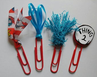 Dr Seuss planner inspired paper clips book marks planner stationary office teacher gifts appreciation party favors