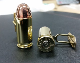 Real Bullet Cufflinks .45 Caliber -  All Sizes Available-k31  - Free Gift Box