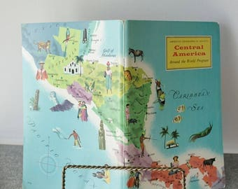 Central America Travel Booklet 1970 American Geographical Society Unused Stickers Included Around the World Travel Guide