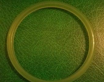 Faux jade jadite early plastic bangle bracelet