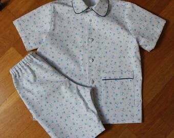 Cotton T 2 and 4 years summer pajamas