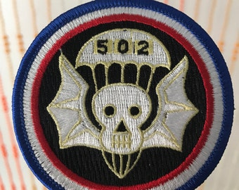 Vintage Skull Wings Parachute 502 Patch