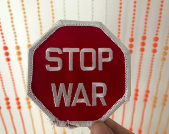Vintage Stop War Patch
