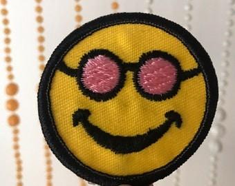 Vintage Sunglasses Smiley Patch