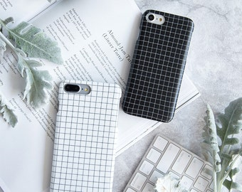 Coque iPhone 6 Coque iPhone 6s - Design Minimaliste - Noir et Blanc - Nouvelle Collection NyuCase - Coque Souple Ultra slim - Mat