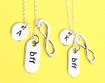 Best friend necklace -  set of 2, arrowhead pendant necklace, Friendship jewelry, arrow charm, 2 bff charm, arrowhead, best friends forever