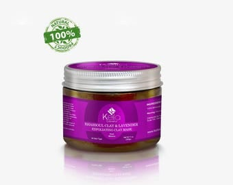 100% Pure and Naturel Moroccan Rhassoul Clay with Lavender - Hair, Face, Body Mask