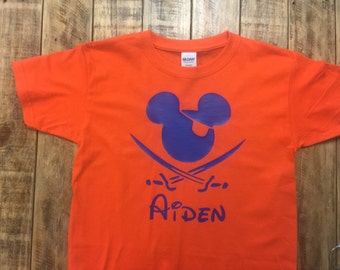 Personalized Mickey Mouse Pirate Youth Shirt