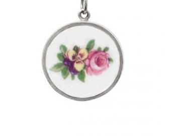 Clarice Cliff Pansy Posy Necklace