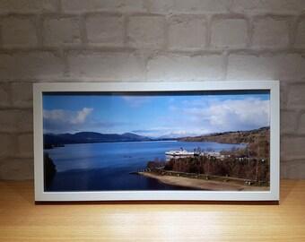 Loch Lomond Shores, Maid Of The Loch, Loch Lomond print, Paddle Steamer Panoramic Print