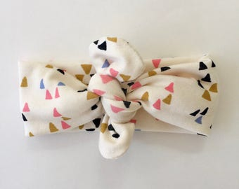 Organic Baby Headband (mini triangles)