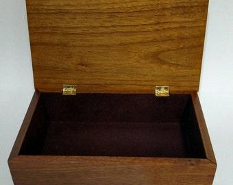 Walnut Keepsake box with purple heart inlays