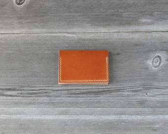 Leather Folded Card Case // Caramel