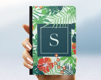 Personalised Passport Cover Holder Palm Leaf Box   Gift For Travel Luggage Airport Custom Initials   Travel Accessories Holiday Wallet