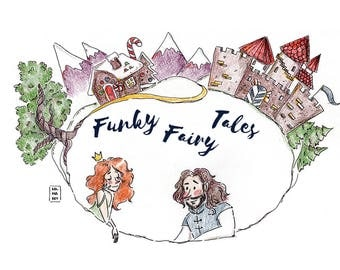 Rumpelstiltskin - Instant Download PDF - Funky Fairy Tales - fairy tale; fiction; digital; original illustrations; drawing; humor; e-book