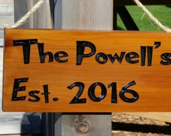 Custom outdoor name signs Etsy