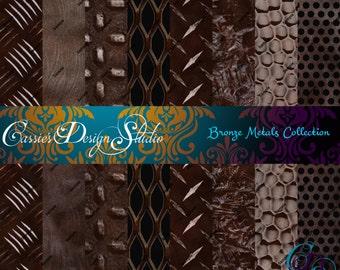 Bronze Metals Digital Paper Collection