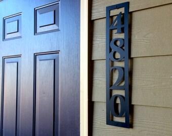 4# Vertical House Number | Metal Address Sign | Custom Metal | Modern Address Marker | Personalized | Housewarming Gift | Outdoor | #1004v4