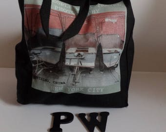 All People Will Travel Photography Beijing Tote Bag - 002 - BLACK