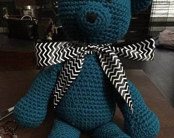 Amanda Bear crocheted stuffed animal