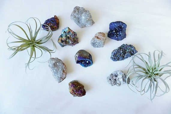 NEW! Mystery Geode Crystal Cluster - Druzy - Geodes - Crystal - Office Decor - Home Decor - Bohemian