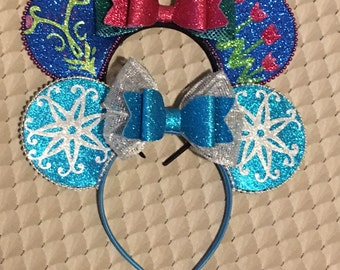 Elsa and Anna mouse ear pair / disney ear