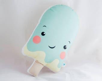 ice cream pillow, stuffed ice cream, decoration pillow, ice cream pillow plush, ice cream cushion, kids decor, kids interior, kidsroom decor