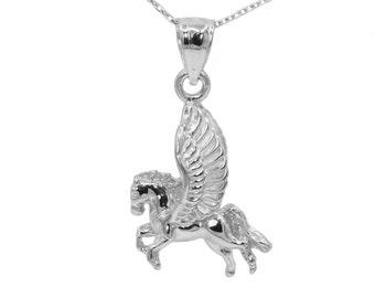 10k White Gold Pegasus Necklace