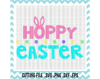 Easter SVG,  Hoppy Easter Bunny Ears, Svg, Png, Eps, Dxf, Cutting Files For Silhouette Cameo/ Cricut, Svg Download.