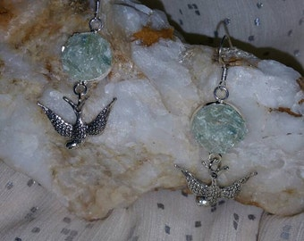 Green Kyanite sparrow earrings
