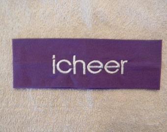 Custom embroidered icheer head band