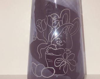Easter image engraved glass by me