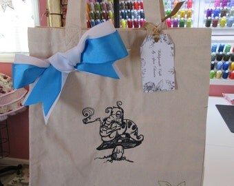 Shopping Tote Bag Wonderland Caterpiller