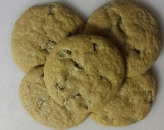 Two Dozen Handmade Mint Chocolate Chip Cookies.